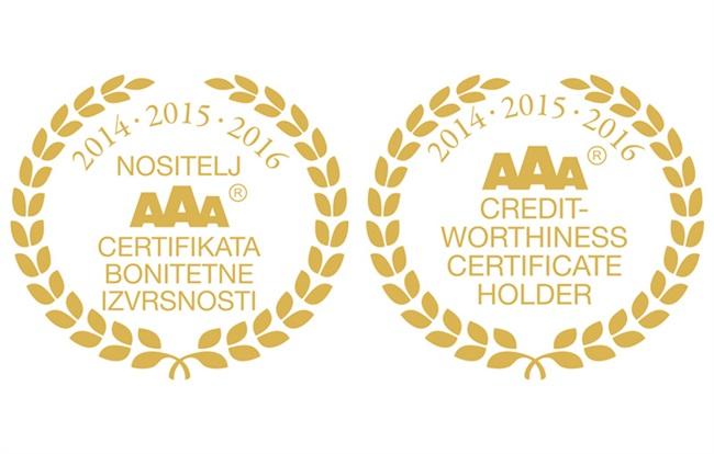 Zlatni AAA certifikat